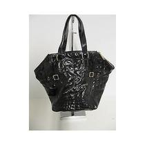 Yves Saint Laurent Ysl Black Embossed Leather Downtown Shopper Tote Bag Handbag Photo