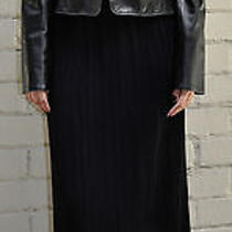 Yves Saint Laurent Ysl Black Leather Jacket 38 Italy Photo