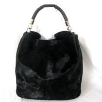 Yves Saint Laurent  Ysl Black Pony Hair Hobopurse Bag  Perfect  Stunning Photo