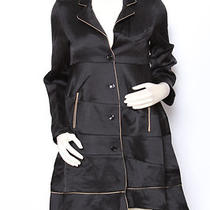 Yves Saint Laurent Ysl Black Silk Fancy Dress Jacket Coat Sz 40 Us 8 Nwt 4500 Photo