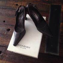 Yves Saint Laurent Ysl Clssic Slingbacks Dark Brown Size 6 Photo