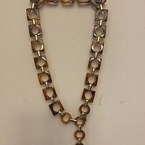 Yves Saint Laurent Ysl Faux Tortoise Lucite Chain Belt  Vintage Photo