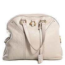 Yves Saint Laurent Ysl Leather Oversized Muse Tote Bag Handbag Purse Ivory Photo