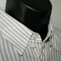 Yves Saint Laurent Ysl Long Sleeve Striped Shirt 16 32/33 Photo