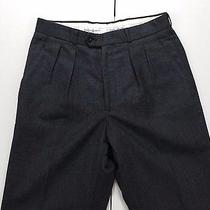 Yves Saint Laurent Ysl Men's Gray Pleated Dress Pants 30x32 Wool Menswear Photo