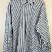 Yves Saint Laurent Ysl  Men's Long Sleeves Striped Shirt Size Large L 16 32-33 Photo