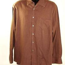 Yves Saint Laurent Ysl Mens Xl Extra Large Brown Long Sleeve Button Up Dress Photo