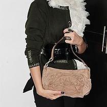 Yves Saint Laurent Ysl Nadja Beige Suede Shoulder Bag Purse Photo
