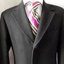 Yves Saint Laurent Ysl Pour Homme Black Wool Walking Topcoat Coat Medium 4 Photo
