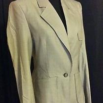 Yves Saint Laurent  Ysl  Rive Gauche Brown Pin-Stripe Pant Suit  F 38 Euc Photo