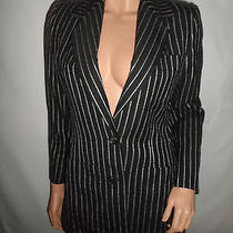 Yves Saint Laurent Ysl Rive Gauche Made in France Blazer Stripe Women's Size F40 Photo