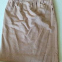 Yves Saint Laurent Ysl Rive Gauche Pink Wool Size 38 Pencil Skirt Photo
