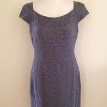 Z Spoke by Zac Posen Grey Cap Sleeve Knee Length Herringbone Dress Size 12  Photo