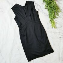 Z Spoke Zac Posen Black Sleeveless Low Back Gathered Sheath Dress Lbd S 6 Nwt Photo