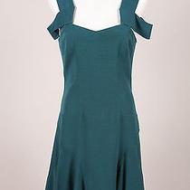 Z Spoke Zac Posen Nwt 490 Green Shoulder Cut Out Flounce Hem Dress Sz 6 Photo