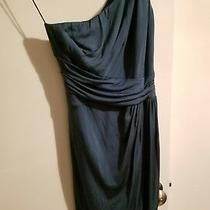 Z Spoke Zac Posen Size 2 Turquoise One Shoulder Dress Photo