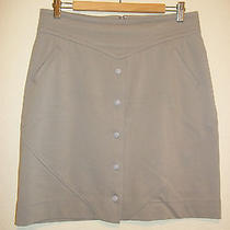 Z Spoke Zac Posen Womens Skirt Size L Large Tan Knit Pencil Straight Khaki Photo