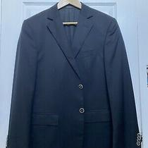 Z Zegna Natural Comfort Mens Dark Blue Blazer Sport Coat Wool Sz 42r 2 Bttn Photo