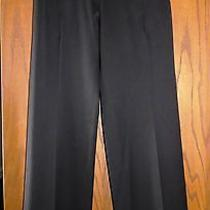 Zac Posen 1190 Black Smooth Stretch Wool Pants With Embossed Pocket Detail 6 Photo