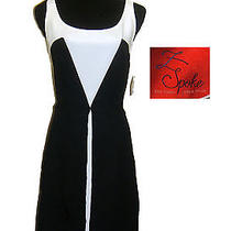 Zac Posen Black White Washed Faille Dress 10 Nwt Z Spoke Sleeveless New Photo