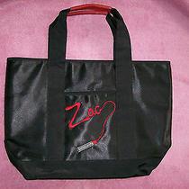 Zac Posen for Target Black Zap Lipstick Extra Large Fabric Tote Bag Photo