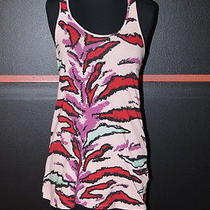 Zac Posen for Target Pink With Multicolors Tank Top Cotton & Spandex Xs Photo