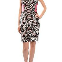 Zac Posen Graphic Zig Zag Brocade Bustier Fitted Tapered Evening Dress 8 New Photo