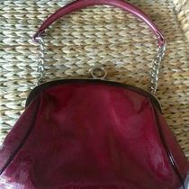 Zac Posen Iconic Gretta Handbag Cranberry Patent Leather Chain Strap   Photo