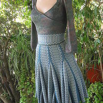 Zac Posen  Metallic  Shimmer Woven Dress  Xtra Small   Photo