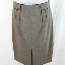 Zac Posen Nwt Women's Taupe Gray Knee Length Pencil Skirt Size 6 790 Photo