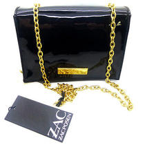 Zac Posen Shirley Bracelet Cross Body Shoulder Bag Leather Black Onyx Photo