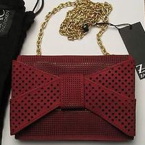 Zac Posen Shirley Bracelet Crossbody Leather Bag Quartz Red Zp284-601 Nwt 295 Photo