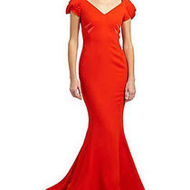 Zac Posen Stretch Crepe Mermaid Gown Size 2 Red Sold Out Everywhere Reduced Photo