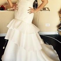 Zac Posen Wedding Dress Size 10 Ivory Photo
