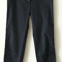 Zac Posen Z Spoke Navy Blue Stretch Capris Sz Us 2 Euc Photo