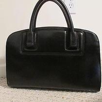 Zac Posen Z Spoke New York Black Leather Satchel Handbag Gorgeous Photo