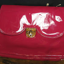 Zac Posen Zspoke Hot Pink Patent Leather  Case Computer Clutch Photo