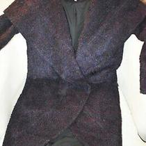 Zac Zac Posen Camilla Wool-Blend Coat S Cape Shawl Collar Boho Photo
