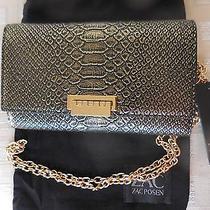 Zac Zac Posen Embossed Leather Crossbody Bag  Gold/black 295 Stunning Photo