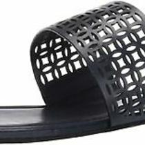 Zac Zac Posen Women's Flat Sandal With Cutout Detail and Toe Thong Mule Photo