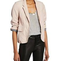 Zadig & Voltaire Blush Pink Verys Crinkled Leather Jacket Size 38 Photo