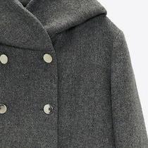 Zara 129 Gray Hooded Jacket Coat Size Xs New With Tags Photo