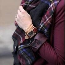 Zara 2014 Tartan Checked Black Blue Red Soft Scarf Shawlwomenblogsold Outnew Photo