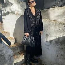 Zara Aw2021 Embroidered Velvet Kimono Black Size Xs/s Jacket Bloggers Fave Bnwt Photo