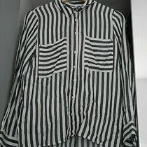 Zara Basic Black White Striped Shirt Blouse Size Eur Xs Photo