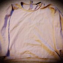 Zara Basic Ladies Casual Top in Blush With Zip Back Detail Size Med/large Photo