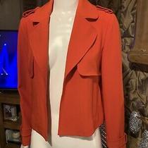 Zara (Basic) Ladies Red Blazer Biker Jacket Bnwt Size Xs Photo