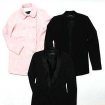 Zara Basic Long Sleeve Wool Peacoat Blazers Pink Black Xs Lot 3 Photo