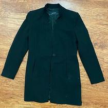 Zara Basic Men Black Blazer Size Medium Long Sleeve Photo