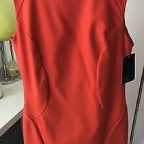 Zara Basic Orange Lined Dress Size M Nwts Photo